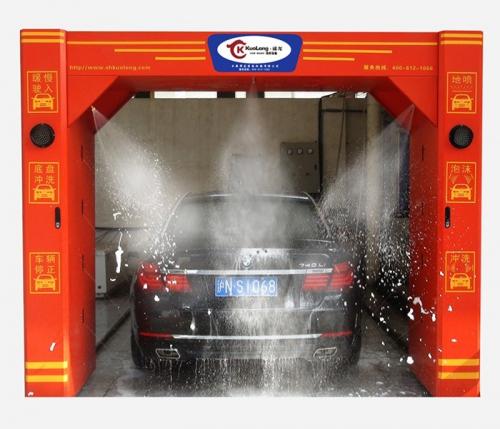 山西省太原市隆源石化加油站518洗车机安装调试完毕