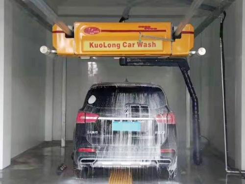 上海闵行吴泾镇政府自动洗车机安装完毕